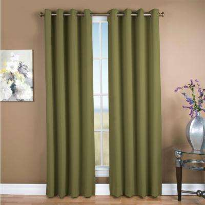 Blackout Ultimate Blackout Polyester Grommet Curtain Panel 56 in. W x 96 in. L Sage