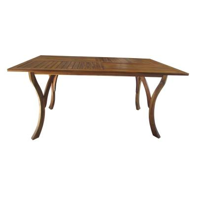 Teak Rectangular Wood Outdoor Dining Table