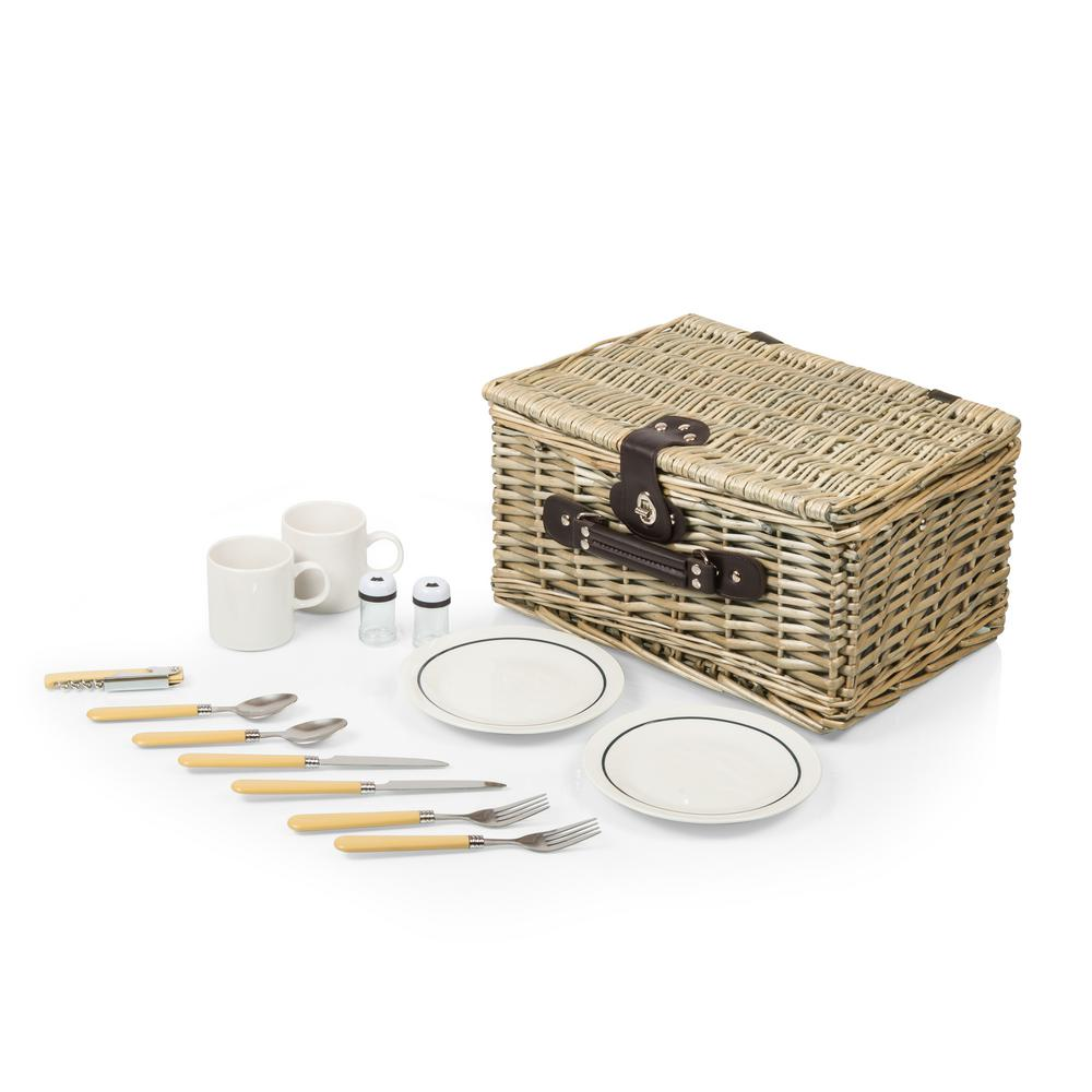 Catalina Natural Wood Picnic Basket