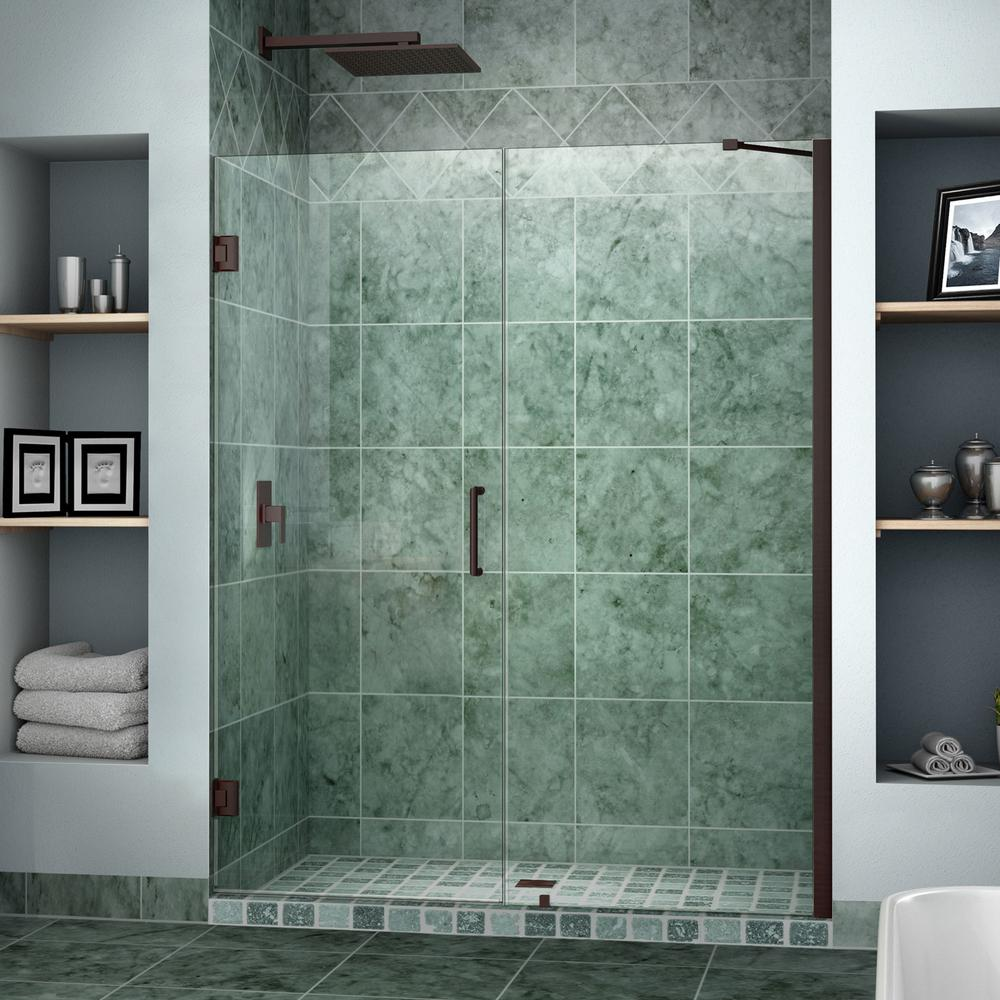 DreamLine Unidoor 58 in. to 59 in. x 72 in. Semi-Framed Hinged Shower Door in Oil Rubbed Bronze