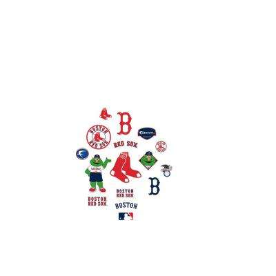 24 in. H x 39 in. W Boston Red Sox Team Logo Assortment Wall Mural