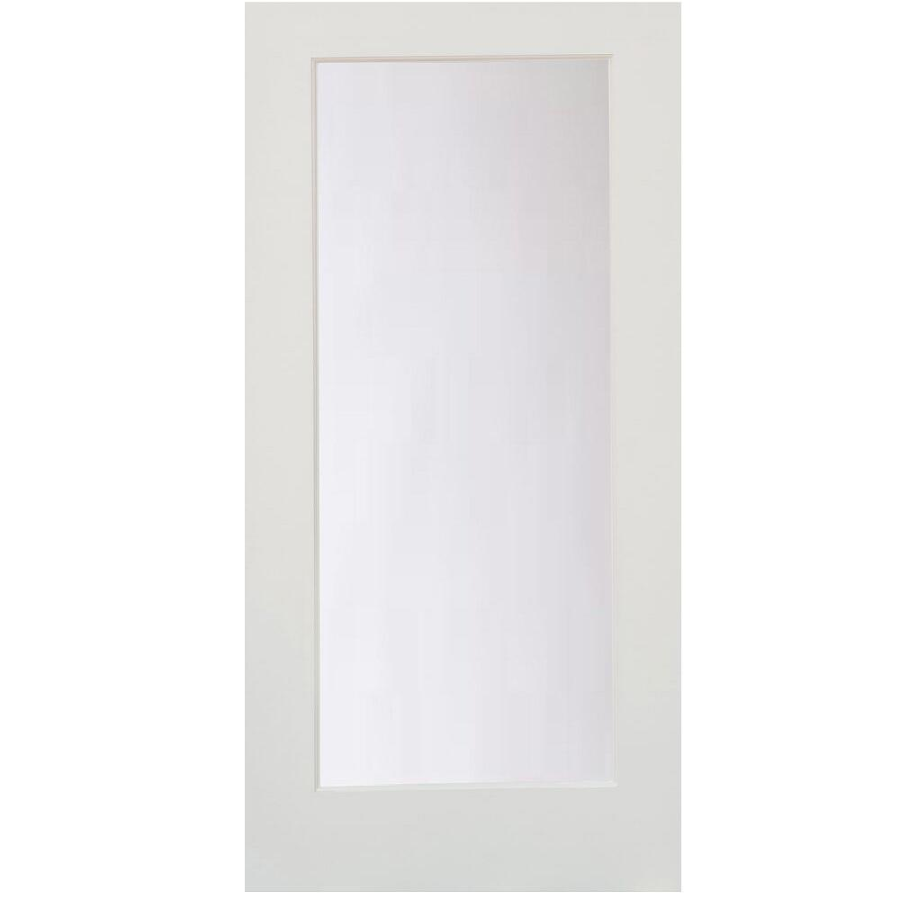 Stile doors 36 in x 80 in 1 lite satin etch primed solid for Solid core mdf interior doors