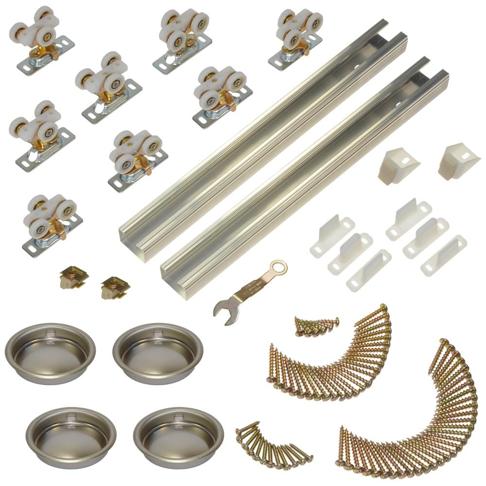 111SD Series 96 in. Track and Hardware Set for 4-Door Bypass