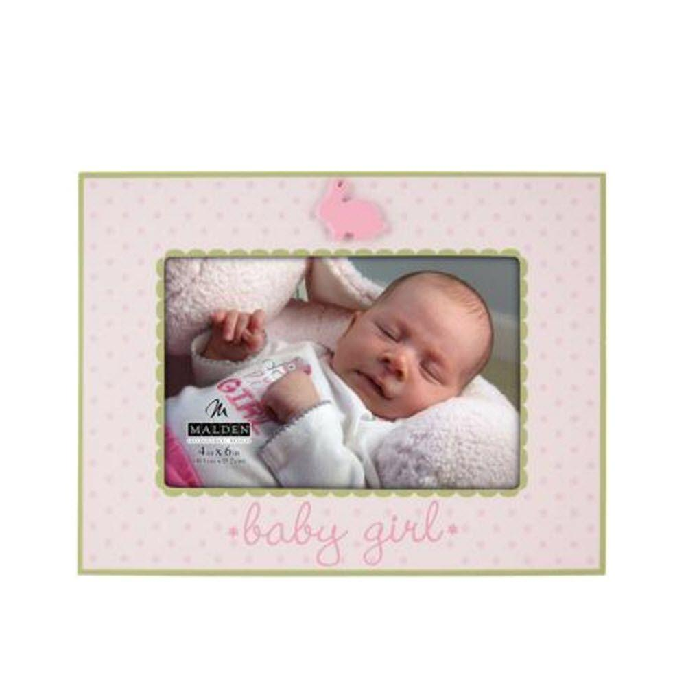 Home Decorators Collection Rabbit Ceramic 1-Opening 7.25 in. x 8.75 in. Pink Picture Frame