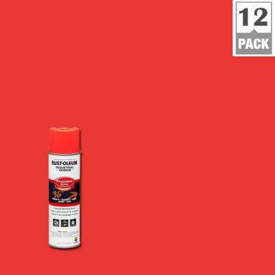 17 oz. M1600 System Precision Line Solvent-Based Fluorescent Red-Orange Inverted Marking Spray Paint (12-Pack)