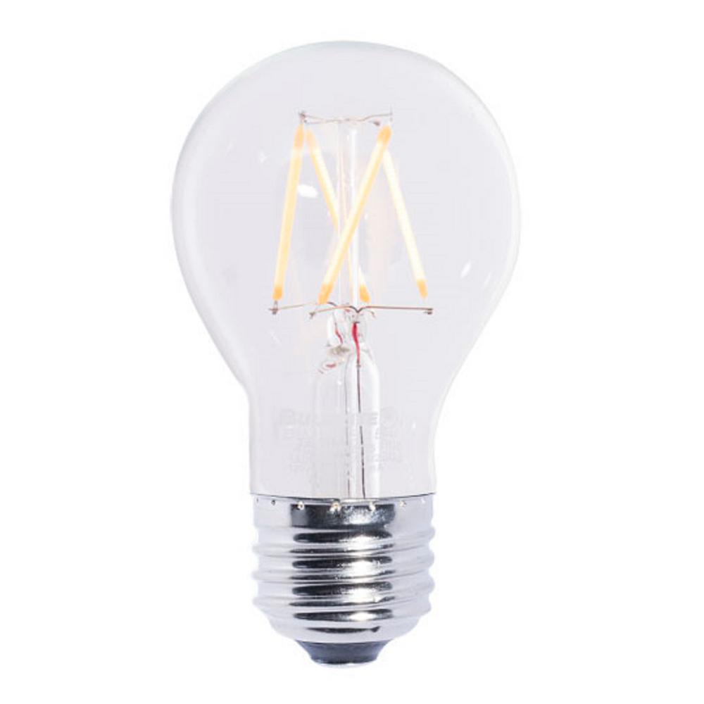 Ecosmart 40w Equivalent Soft White A19 Dimmable Filament: Bulbrite 40W Equivalent Warm White Light A19 Dimmable LED