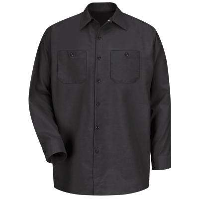 Men's Size 3XL Black Long-Sleeve Work Shirt