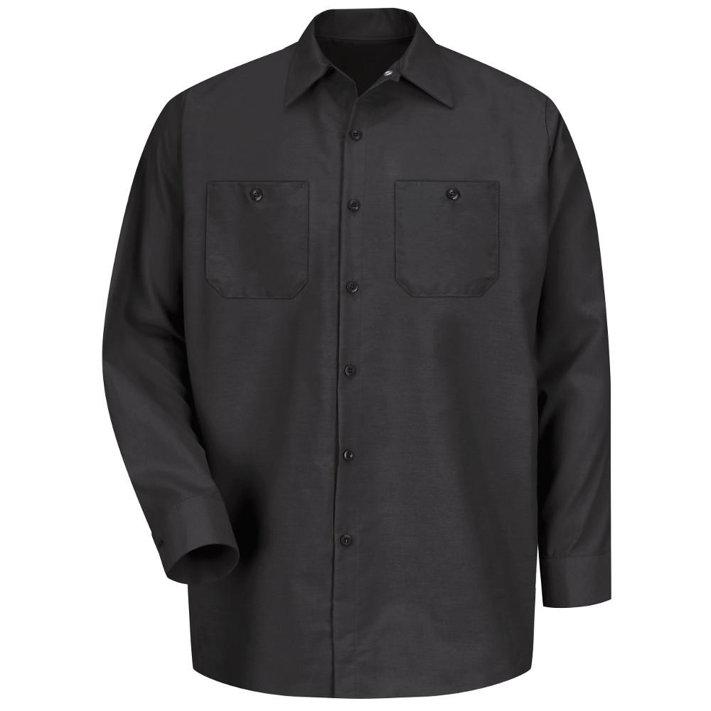 5efc726c9ba7a2 Red Kap Men's Size 4XL Black Long-Sleeve Work Shirt-SP14BK RG 4XL ...