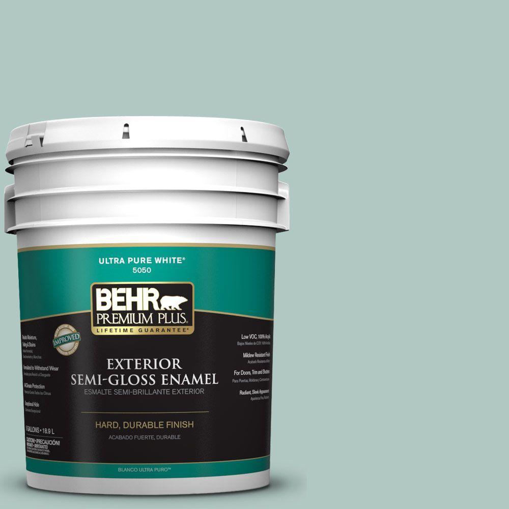 BEHR Premium Plus 5-gal. #S430-2 Fresh Tone Semi-Gloss Enamel Exterior Paint