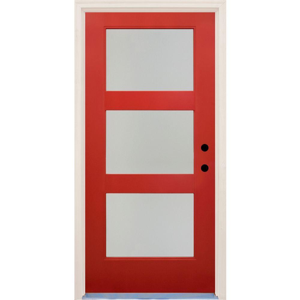 Red Front Doors Exterior Doors The Home Depot