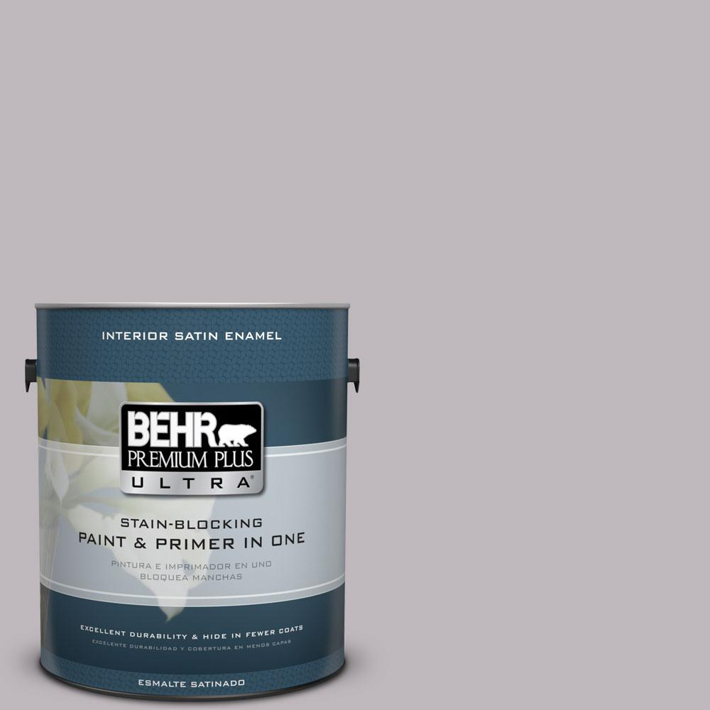 BEHR Premium Plus Ultra 1-Gal. #PPU16-10 French Lilac Satin Enamel Interior Paint