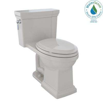 Promenade II 1-piece  1.28 GPF Single Flush Elongated Toilet with CeFiONtect in Sedona Beige