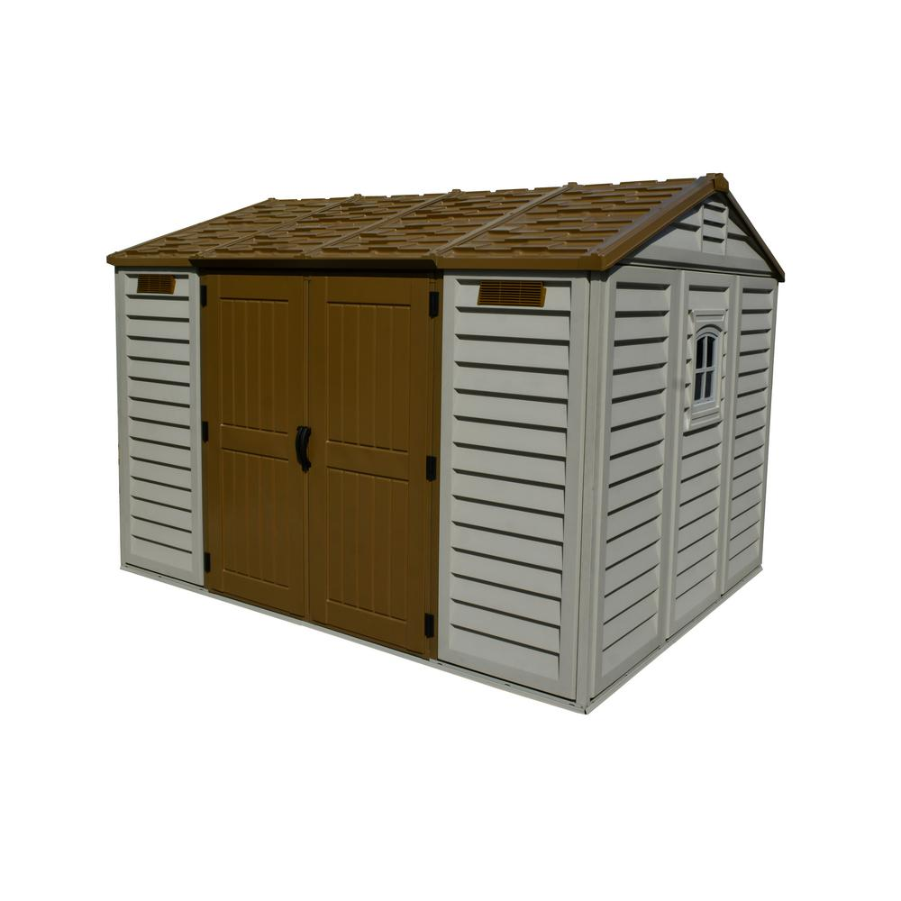 Duramax Building Products Apex 10.5 ft. x 8 ft. Vinyl Shed with Foundation