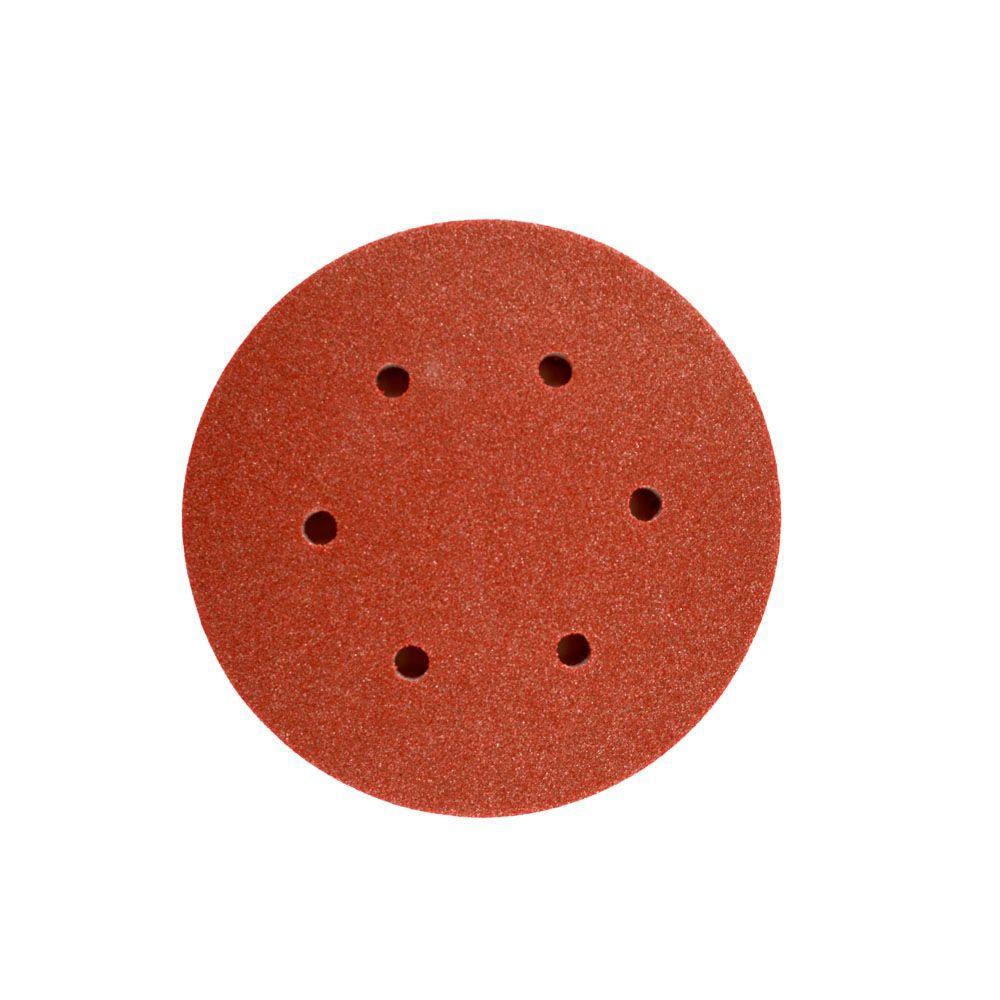 6 in. 150-180-Grit Red Foam Pad for U-SAND Sanders (5-Pack)
