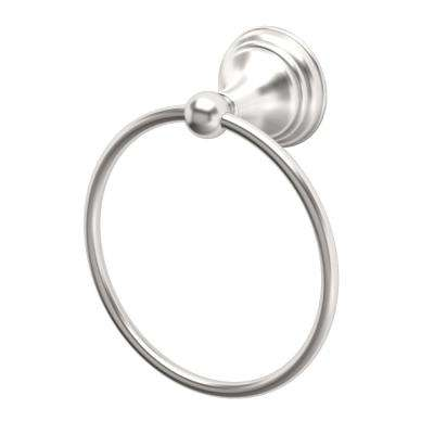 Charlotte Towel Ring in Satin Nickel