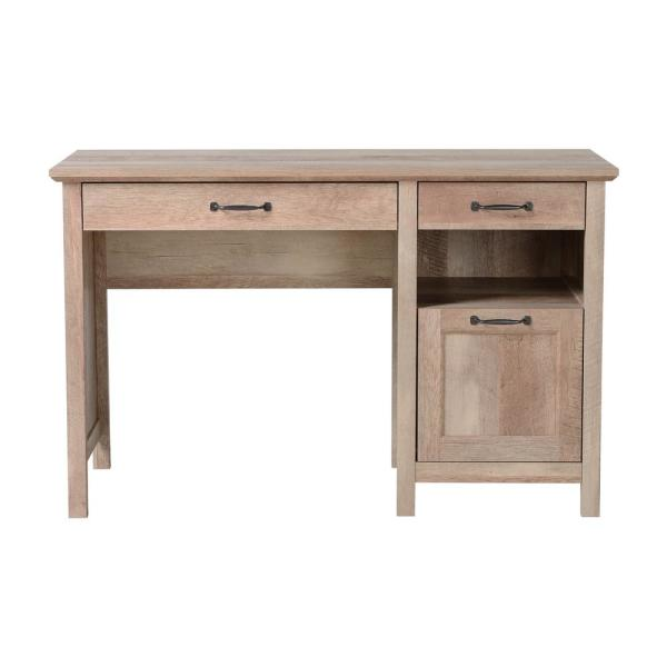 Bianca Reclaimed Wood Pedestal Desk With 3 Drawers