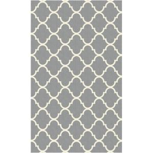Ruggable Washable Moroccan Trellis Lt. Grey 3 ft. x 5 ft. Stain Resistant Accent Rug by Ruggable