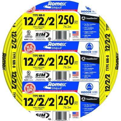 250 ft. 12/2/2 Solid Romex SIMpull CU NM-B W/G Wire
