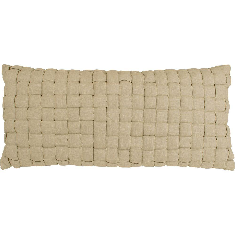 Flax Soft Weave Hammock Pillow B Weave Flax The Home Depot
