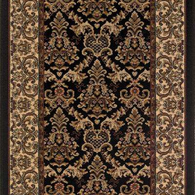 Kurdamir Elegante Black 26 in. x Your Choice Length Stair Runner
