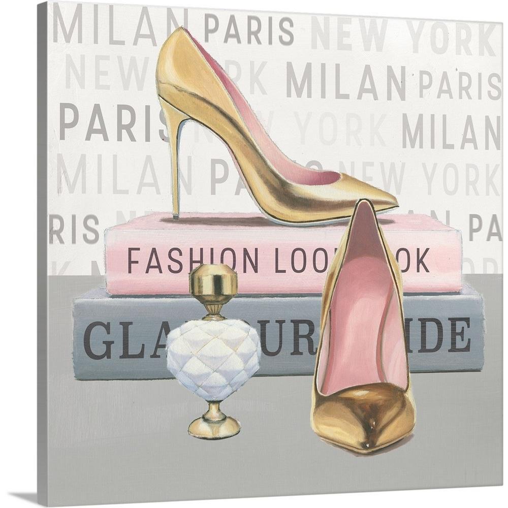 City Style Square II Keilrahmen-Bild Leinwand Mode Fashion Heels Marco Fabiano