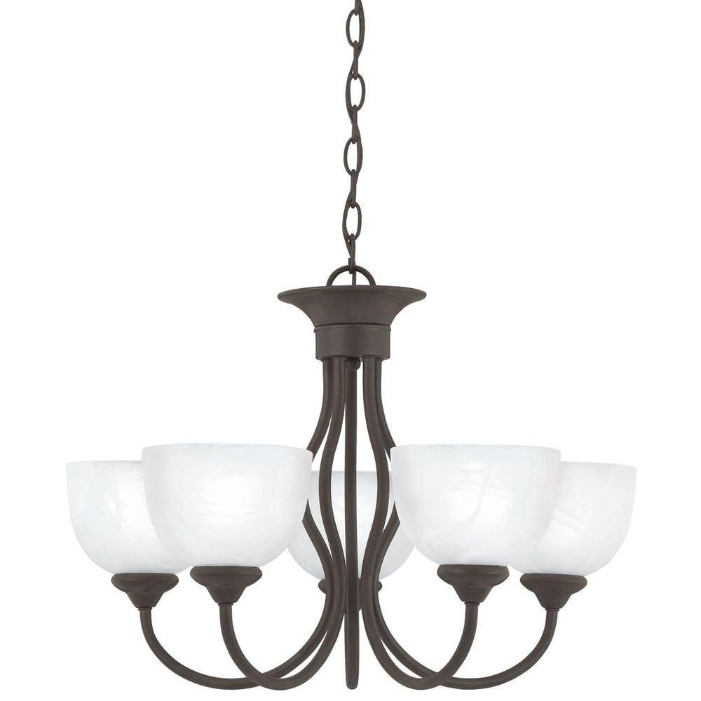 Battery Operated Chandelier With Awesome Battery Operated Outdoor And Indoor Chandelier Decor: Hampton Bay 5-Light Natural Antler Hanging Chandelier-17195