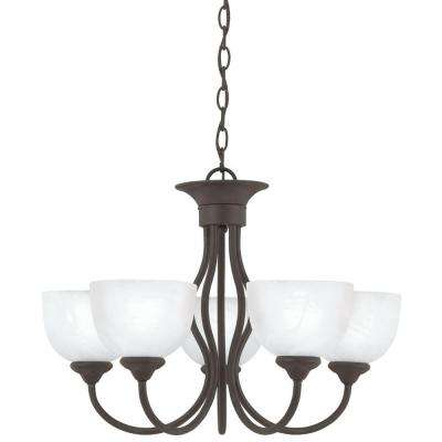 Tahoe 5-Light Painted Bronze Hanging Chandelier