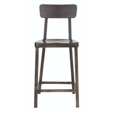 Jacob 24 in. Gunmetal Counter Stool