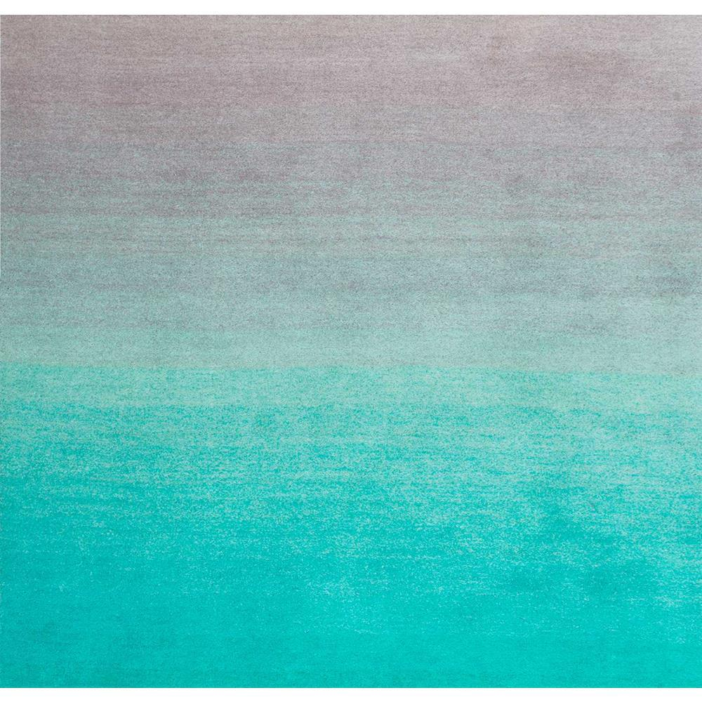 Nuloom Ombre Turquoise 8 Ft X Square Rug