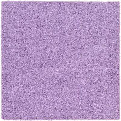 solid shag lilac 8 ft 2 in x 8 ft 2 in