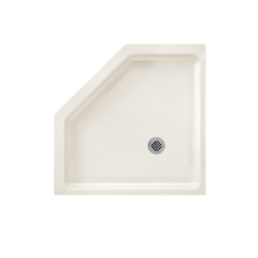 Swan Neo Angle 36 in. x 36 in. Solid Surface Single Threshold Shower Floor in Bisque
