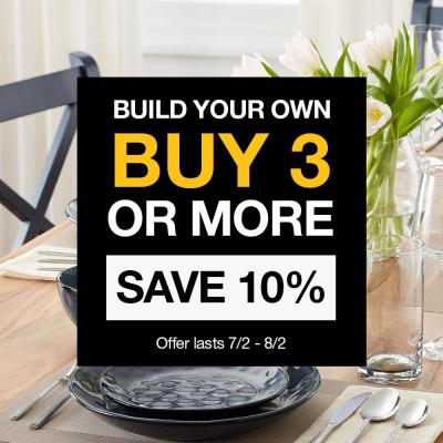 StyleWell 16-Piece White Ceramic Rimmed Dinnerware Set (Service for 4)