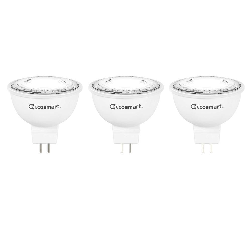 35-Watt Equivalent MR16 GU5.3 Dimmable LED Light Bulb, Bright White (3-Pack)