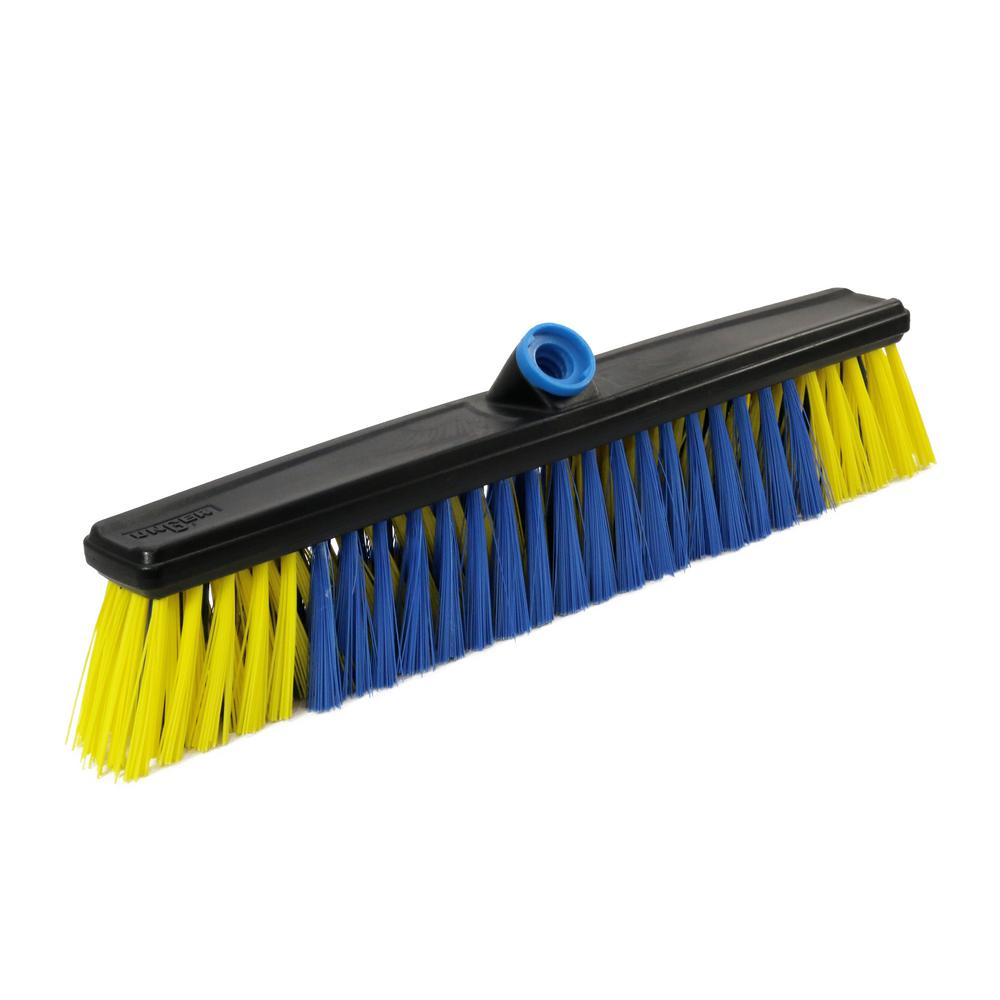 Unger Unger Lock-On 20 in. All Surface Push Broom Head, Blue
