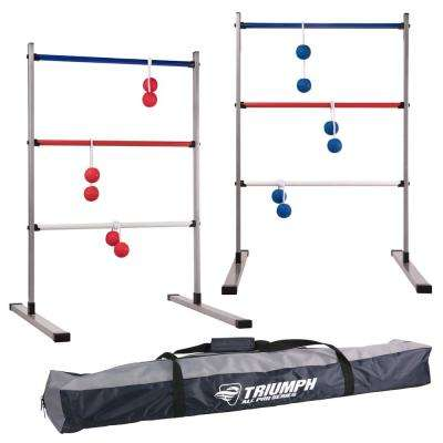 Triumph All Pro Series Press Fit Outdoor Ladderball Set, Includes 6 Soft Ball Bolas and Durable Sport Carry Bag