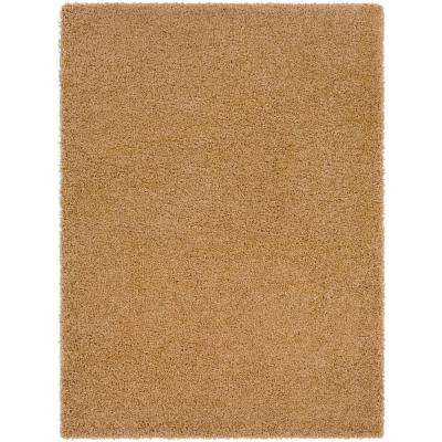Galaxy Shag Light Brown 5 ft. x 7 ft. Indoor Area Rug