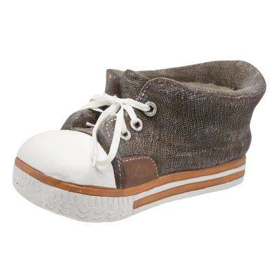 Brown Sneaker Fiberglass Planter