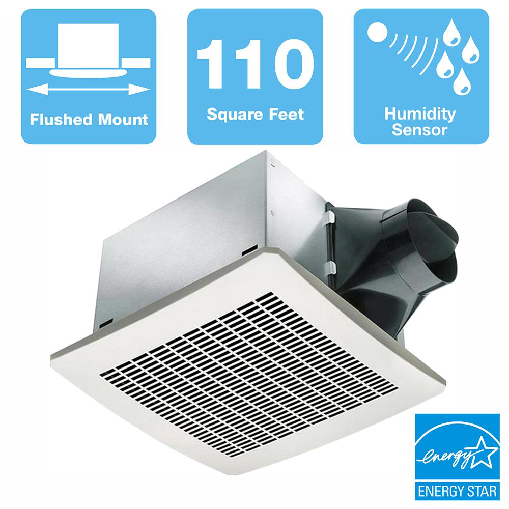 Delta 110 CFM Ceiling Bathroom Exhaust Bath Fan LED Light Nightlight Ventilation