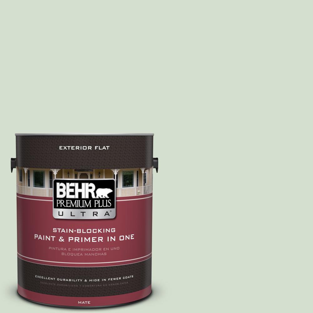 1-gal. #440E-2 Herbal Mist Flat Exterior Paint