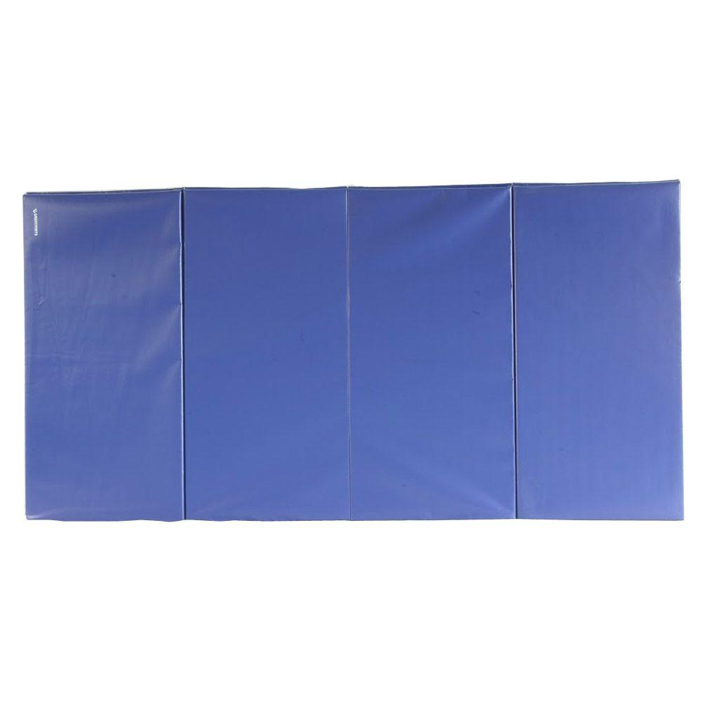 Greatmats Folding Blue 4 Ft. X 8 Ft. X 1.5 In. 18 Oz