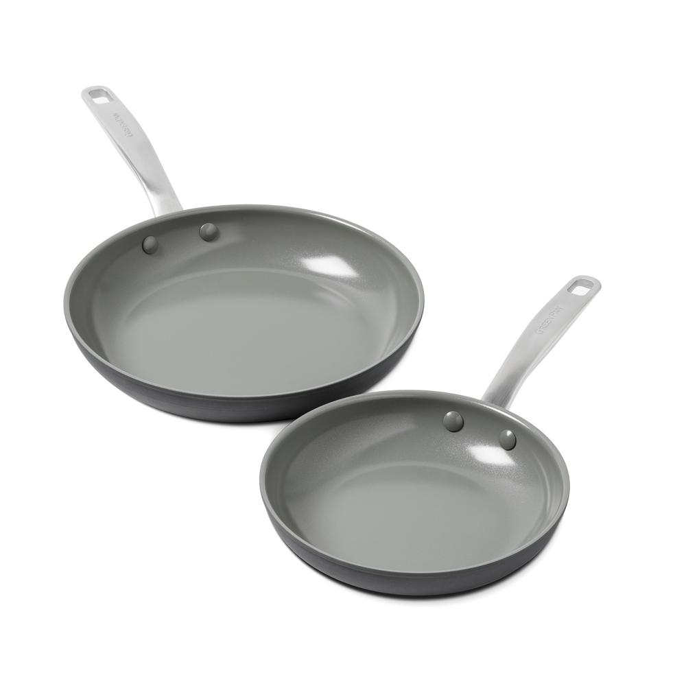 GreenPan Chatham 8 in. and 10 in. Ceramic N-S Frypan Set,...