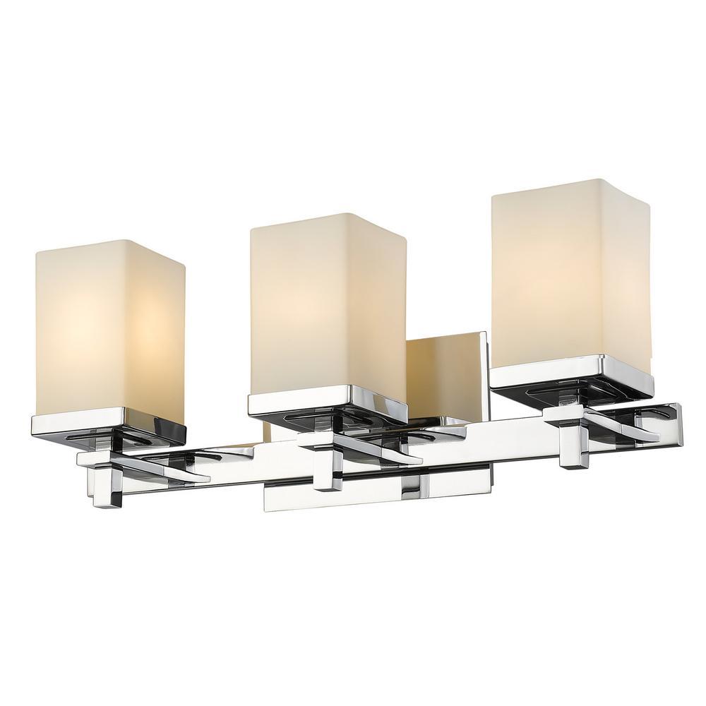 Laurel Designs Maddox 3-Light Chrome Bath Light-THDDDDDBA3 - The ...