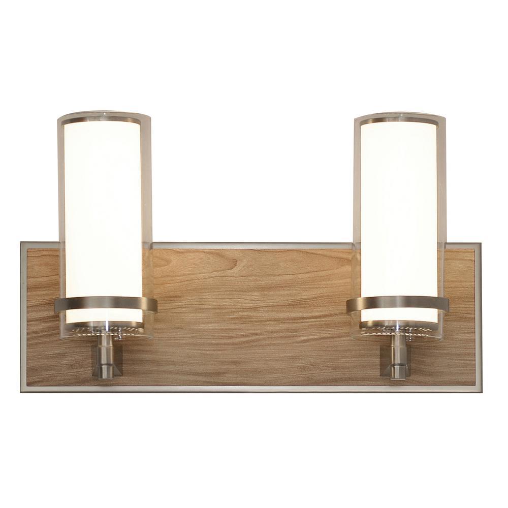 Arden 15.5-Watt Satin Nickel Integrated LED Bath Light