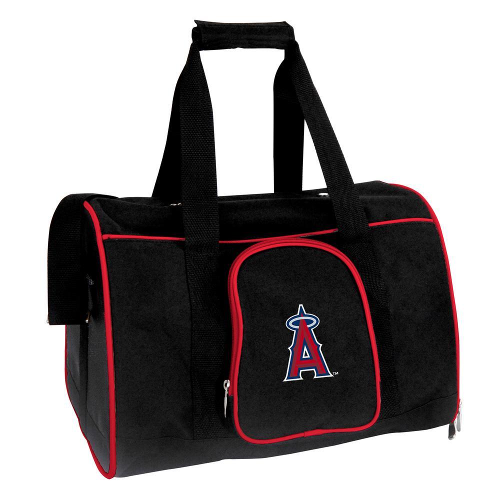 Denco MLB Los Angeles Angels Pet Carrier Premium 16 in. Bag in Red
