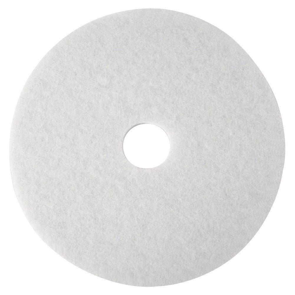 12 in. White Super Polish Pads (5 Per Carton)