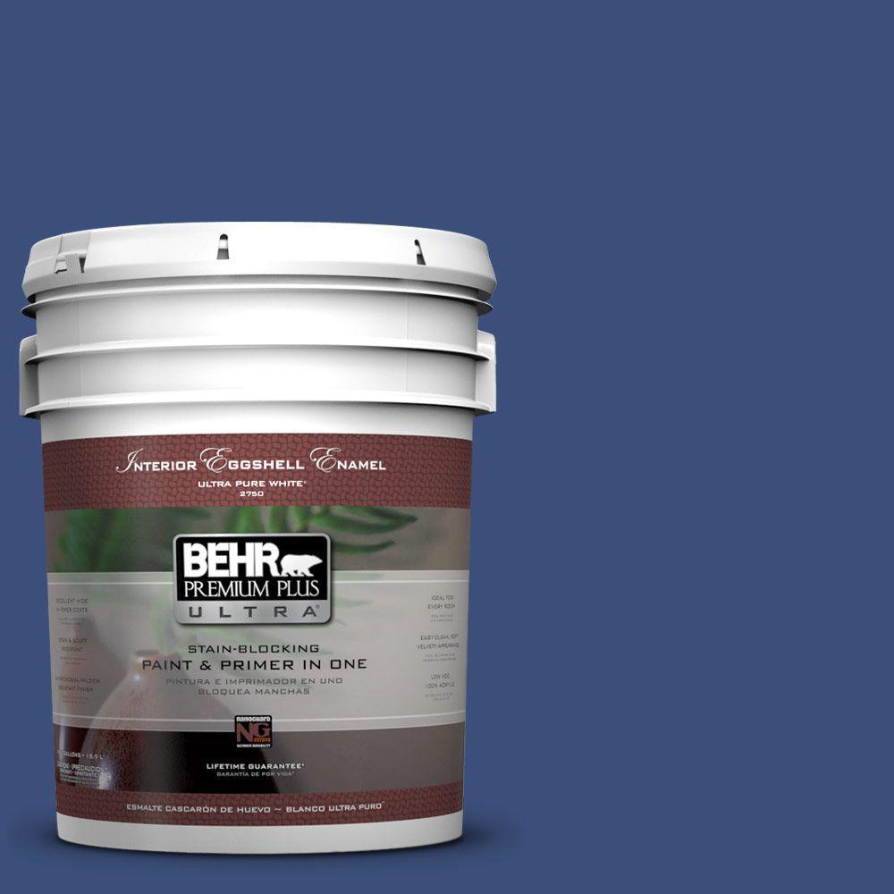 BEHR Premium Plus Ultra 5-gal. #S-H-600 Sailor Eggshell Enamel Interior Paint