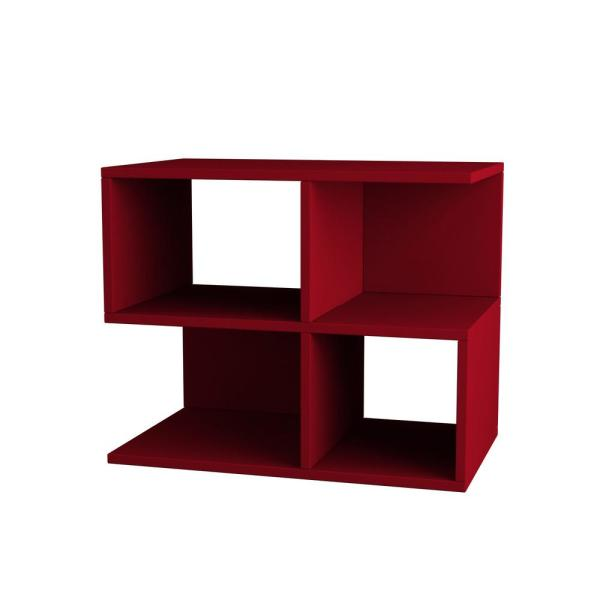Ada Home Decor Sharon Burgundy Modern Side Table