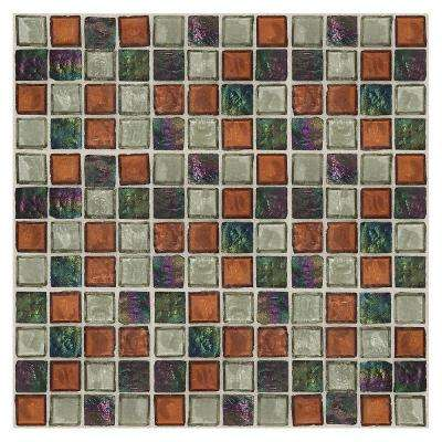 Egyptian Glass Amber Medley 12 in. x 12 in. x 6 mm Glass Face-Mounted Mosaic Wall Tile