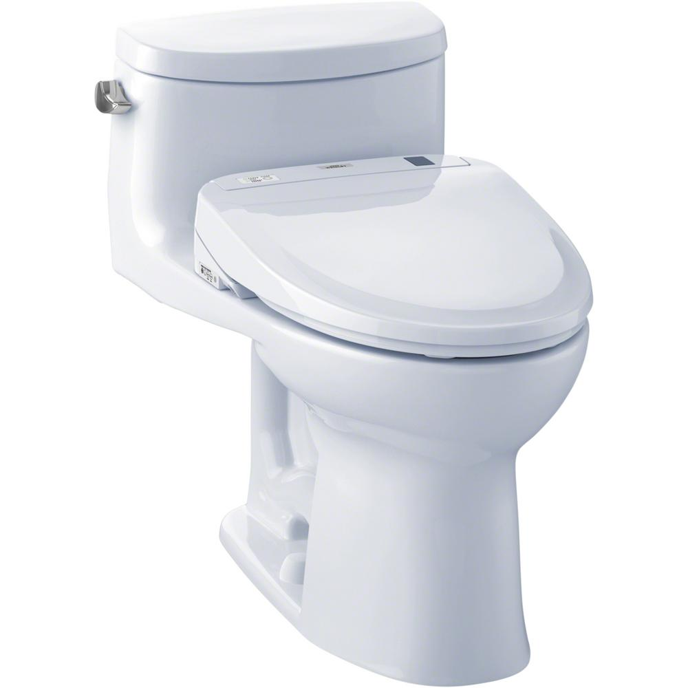 Supreme Ii Connect 1 Piece 28 Gpf Elongated Toilet With Washlet S300e Bidet And Cefiontect In Cotton White