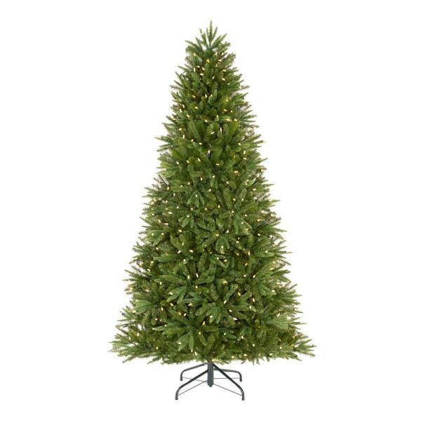 Home Accents Holiday 7.5 ft Genoa Douglas Fir LED Pre-Lit Artificial Christmas Tree with 540 Color Changing Lights and 116 Functions | The Home Depot